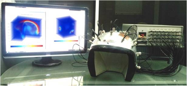 ECVT system consists of sensor system, data acquisition system and computer system for control, image reconstruction and display.